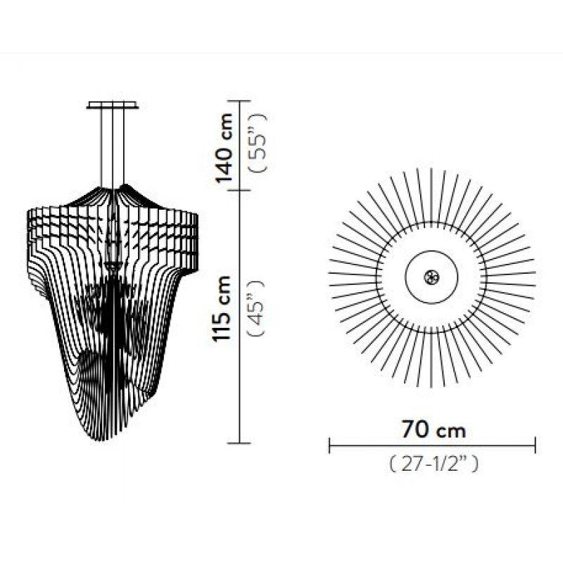 Suspension lamp ARIA Ø 70 cm
