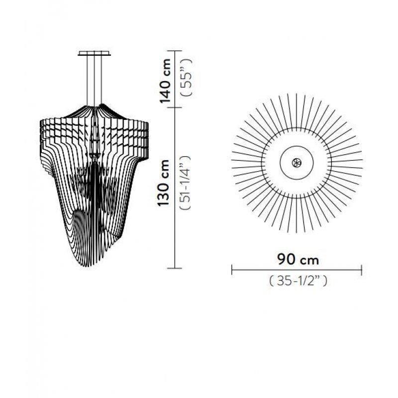 Suspension lamp ARIA XL Ø 90 cm