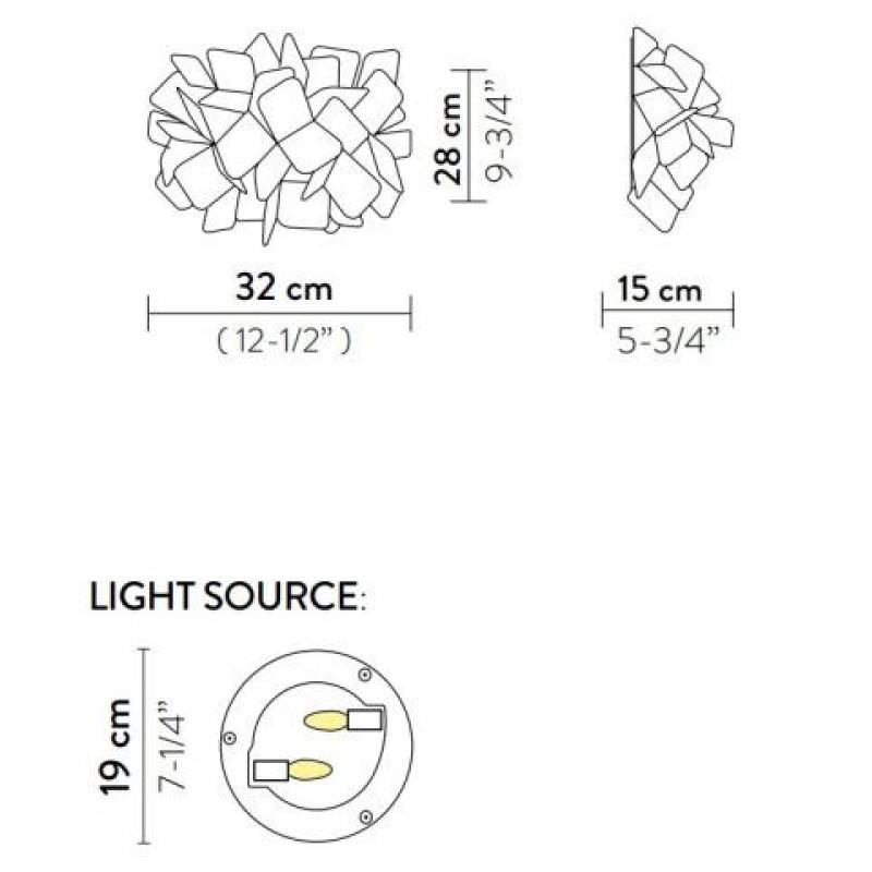 Ceiling-wall lamp CLIZIA APPLIQUE