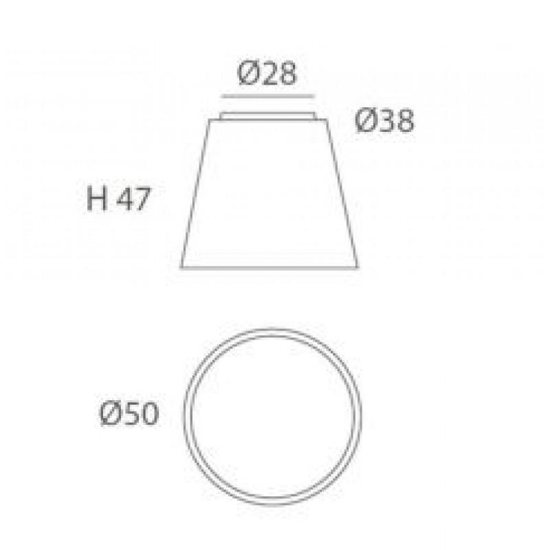 Ceiling lamp DRUM Ø 50 сm