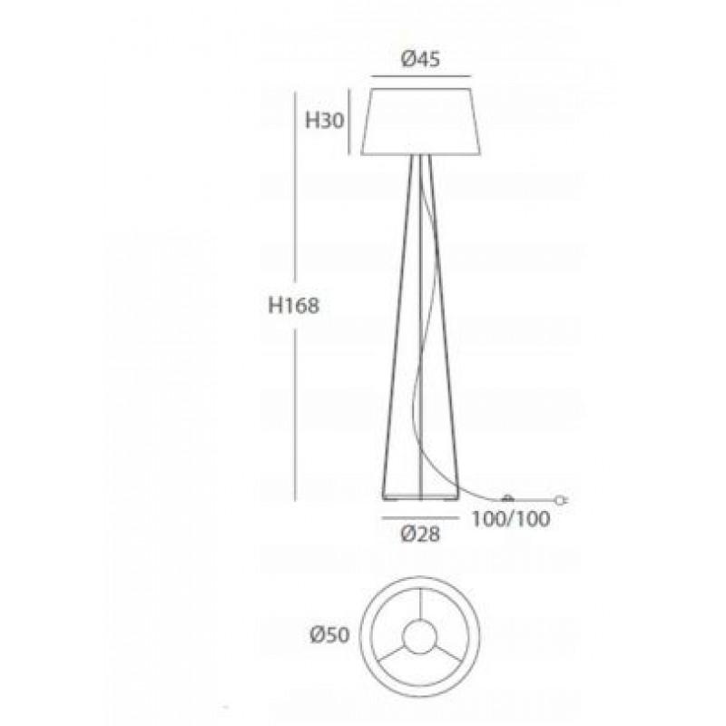 Floor lamp DRUM Ø 50 cm