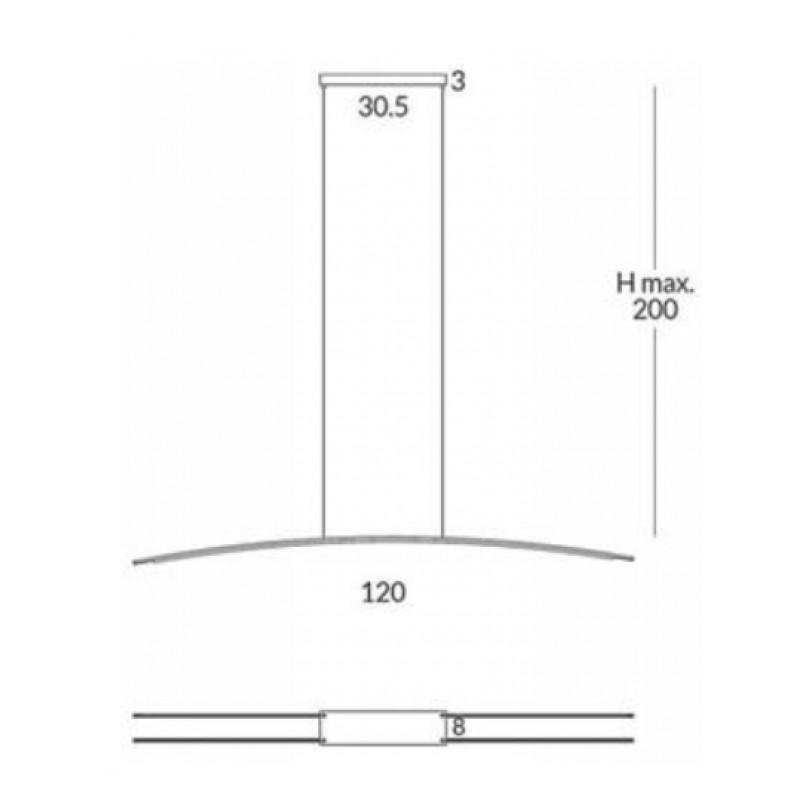 Pendant lamp RITA (2 x1,2 m)