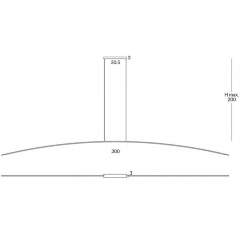 Pendant lamp RITA (3 m)