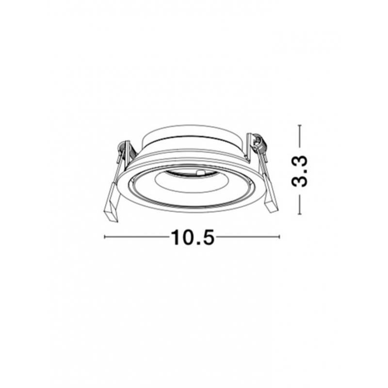 Recessed lamp ENZO Ø 10,5 cm