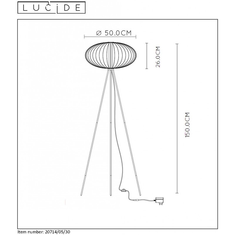 Floor lamp CARBONY