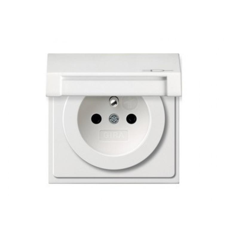 Socket white, glossy F100