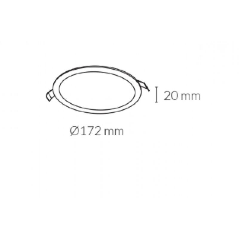 Downlight lamp DISC Ø 17,2 cm
