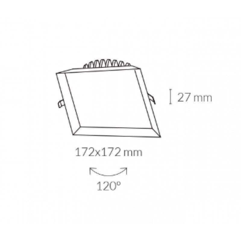 Downlight lamp MIRANDA SQUARE 17,2 x 17,2 cm