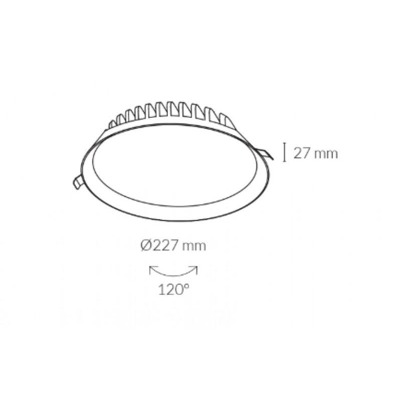 Downlight lamp MIRANDA Ø 22,7 cm