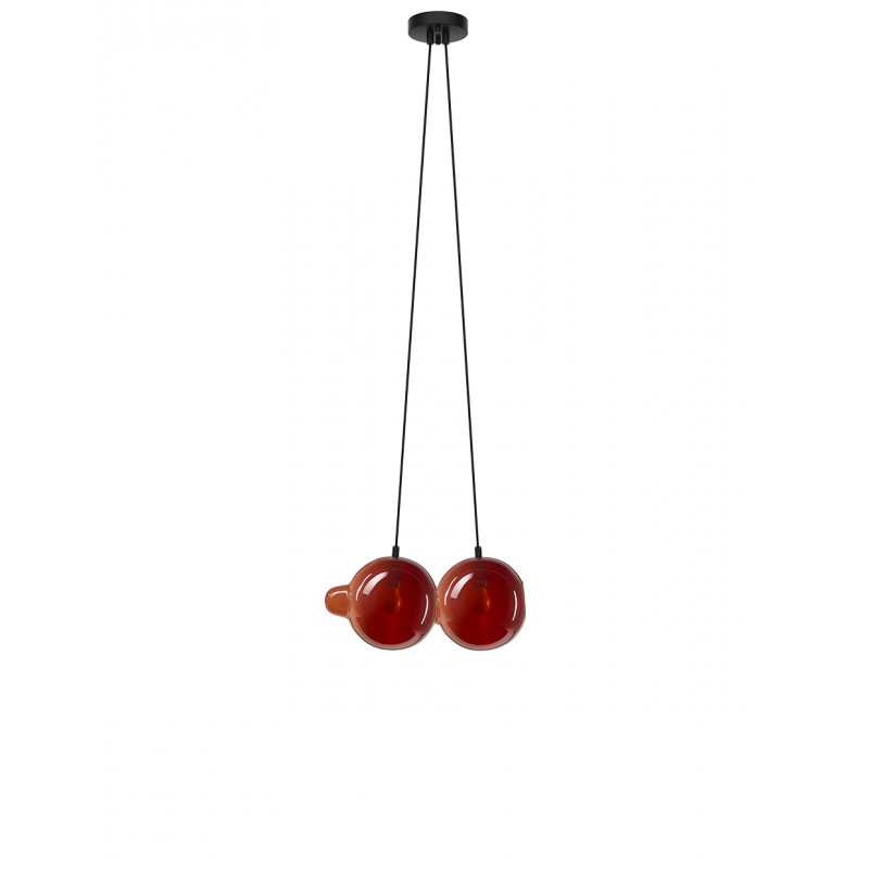 Pendant lamp PENDULUM 2 POSITION DARK RED