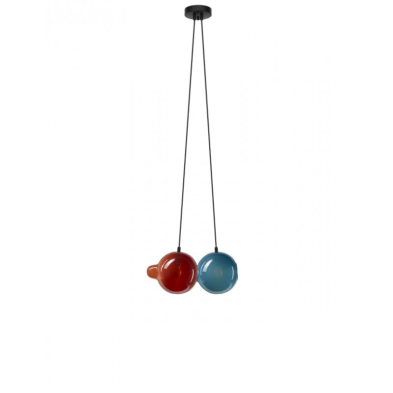 Pendant lamp PENDULUM 2 POSITION DARK RED & PI...