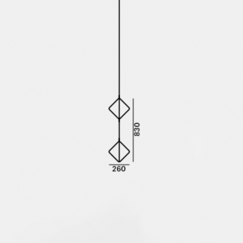 Pendant frame JACK O´LANTERN SMALL DOUBLE PENDENT FRAME D260 H830