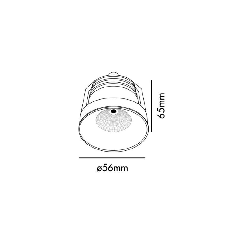 Downlight lamp AIM White LED