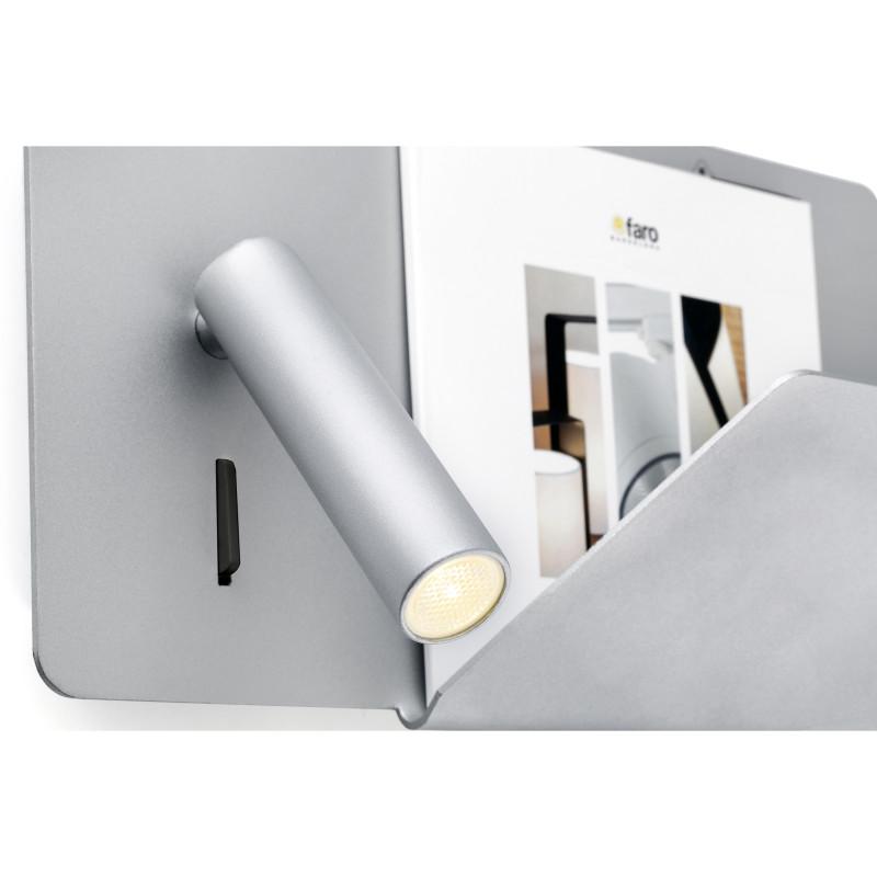 Wall lamp SUAU USB Grey