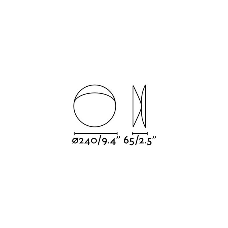 Wall lamp OVO-G White