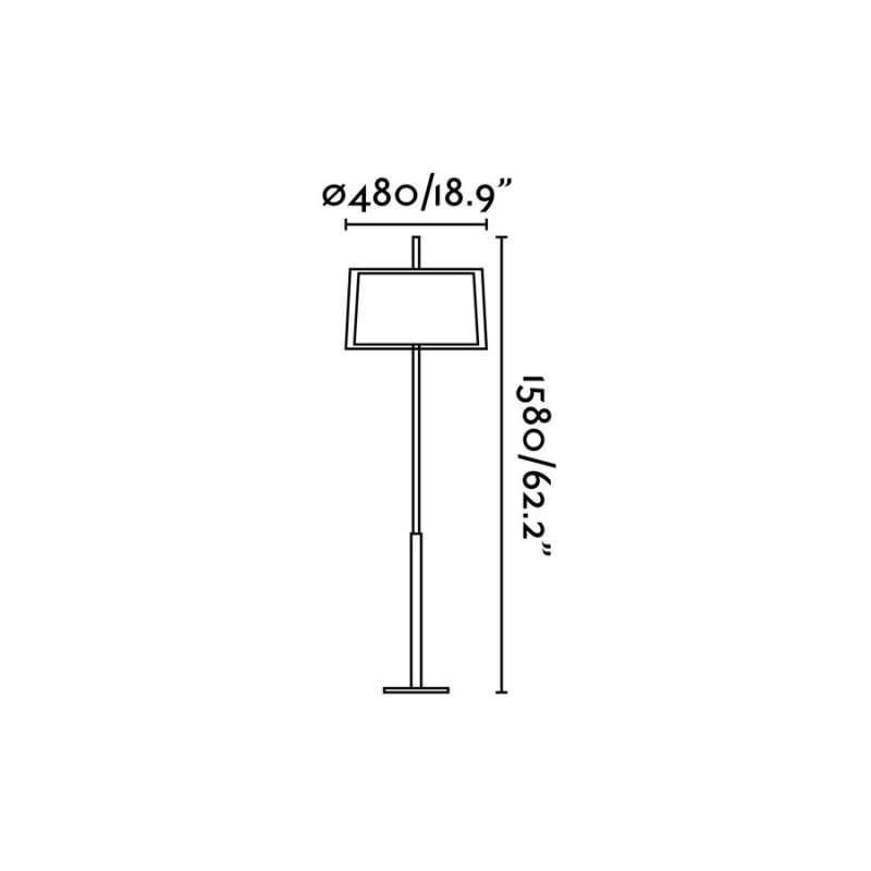 Floor lamp SABA Matt nickel