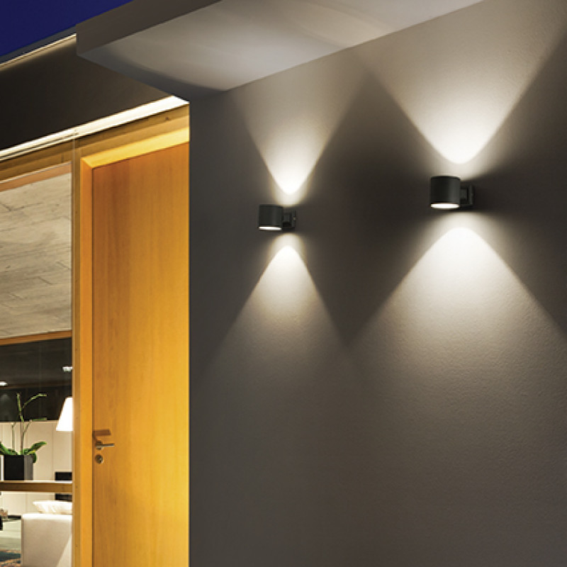 Ceiling-wall lamp SNIF ROUND AP1 Black