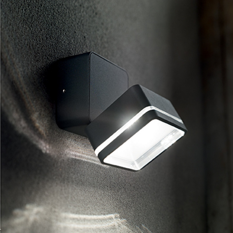Ceiling-wall lamp OMEGA SQUARE AP1 Black