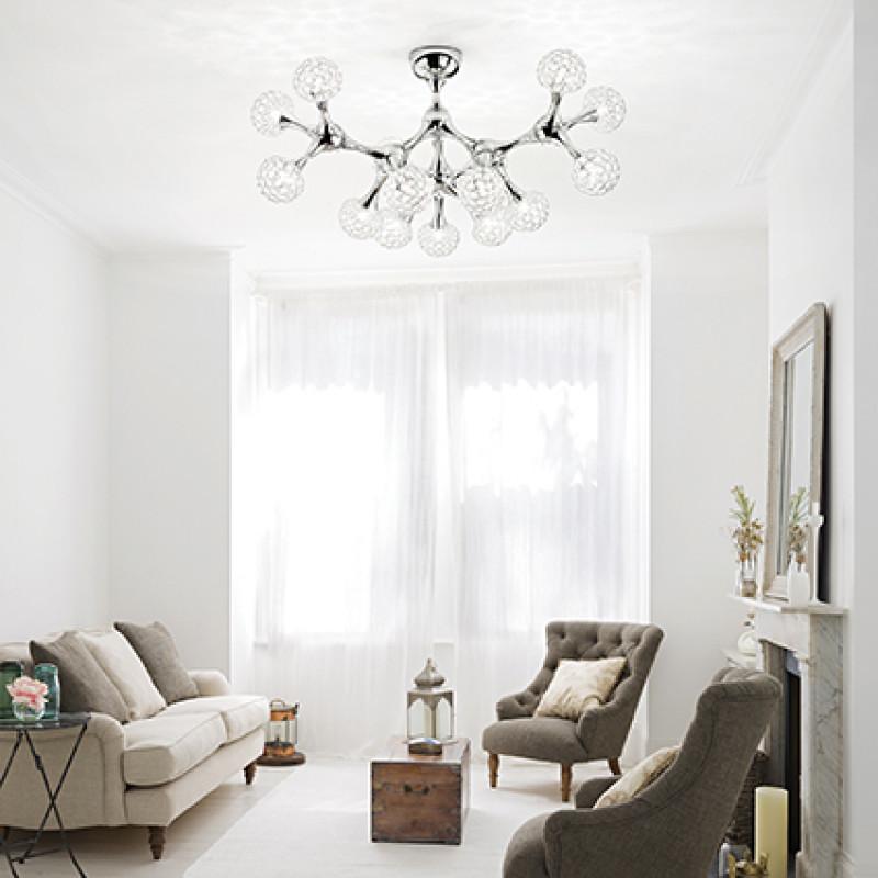 Ceiling lamp NODI CRYSTAL PL15 Chrome