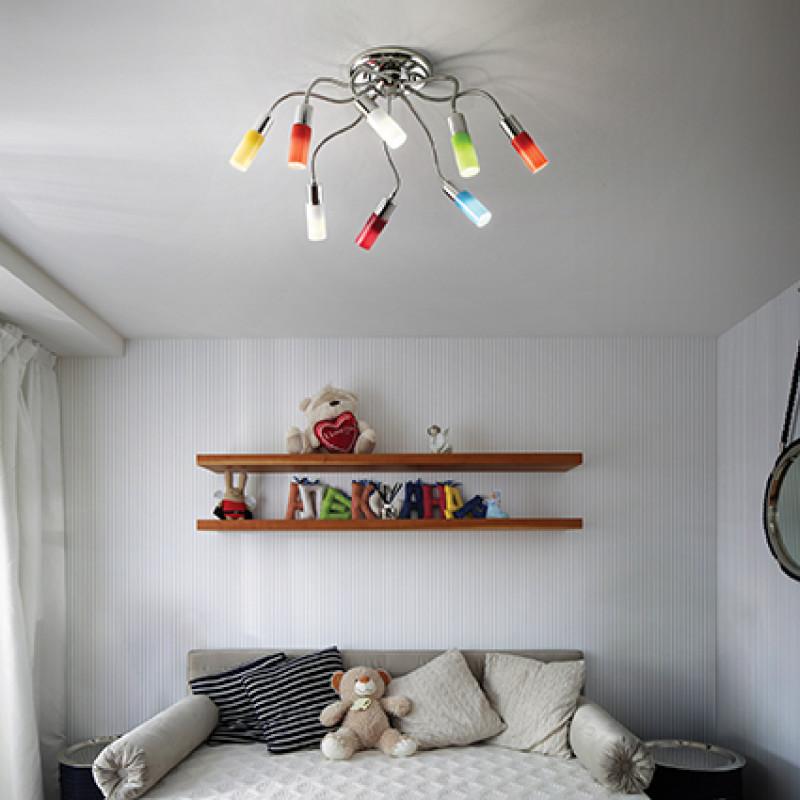 Ceiling lamp ECOFLEX PL8 Polichrome
