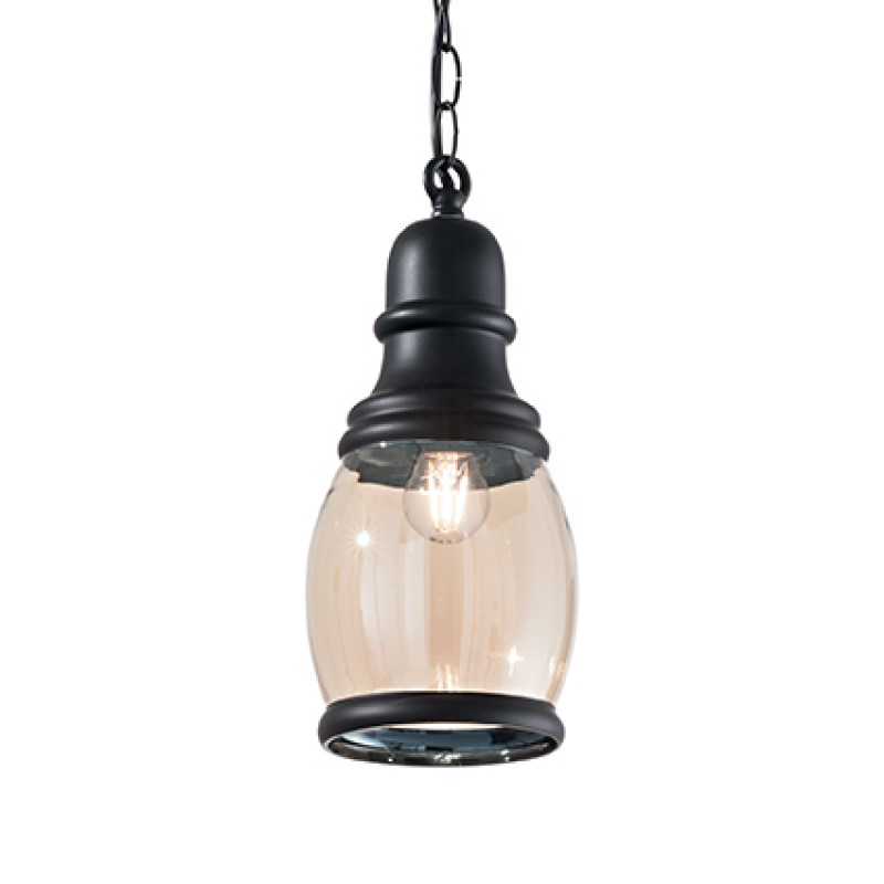 Pendant lamp HANSEL SP1 Oval Black
