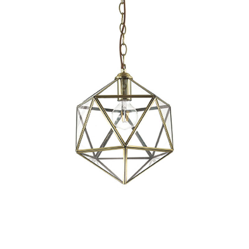 Pendant lamp DECA SP1 Small Antique Brass