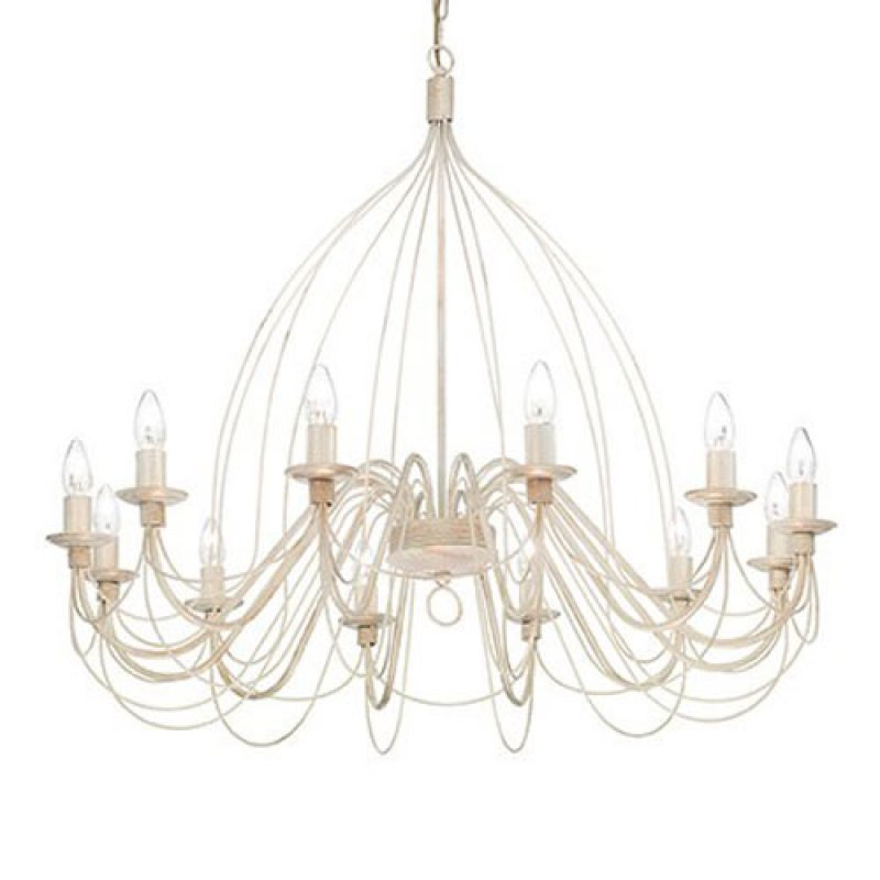 Chandelier CORTE SP12 Antique White