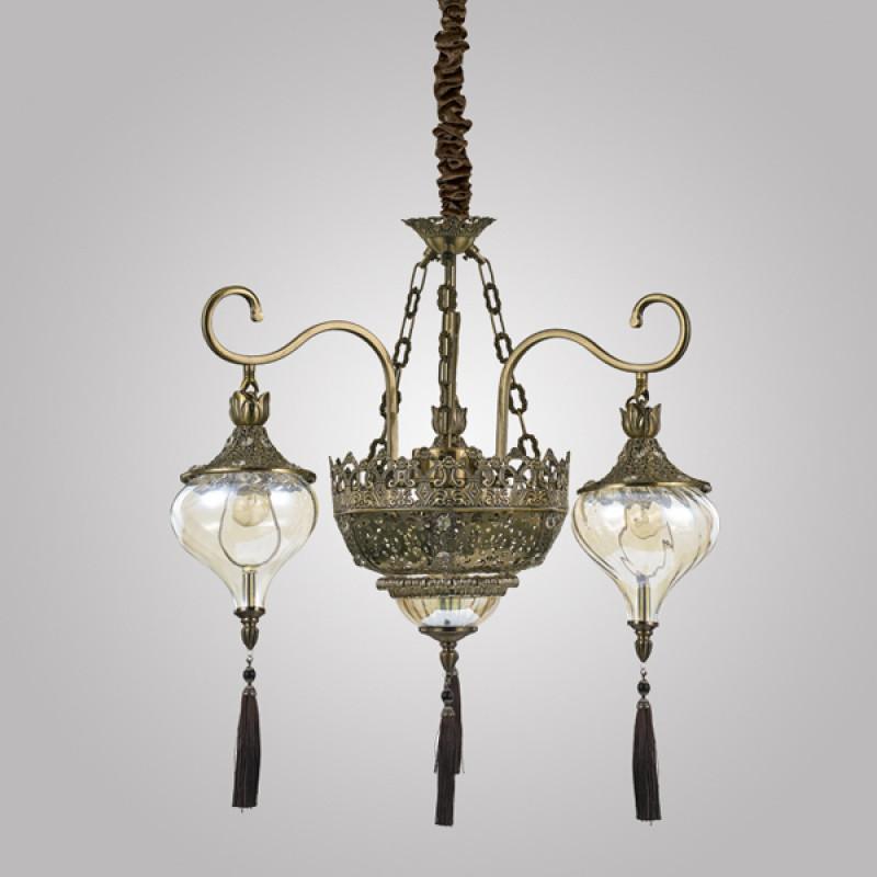 chandeliers HAREM SP5 Antique Brass