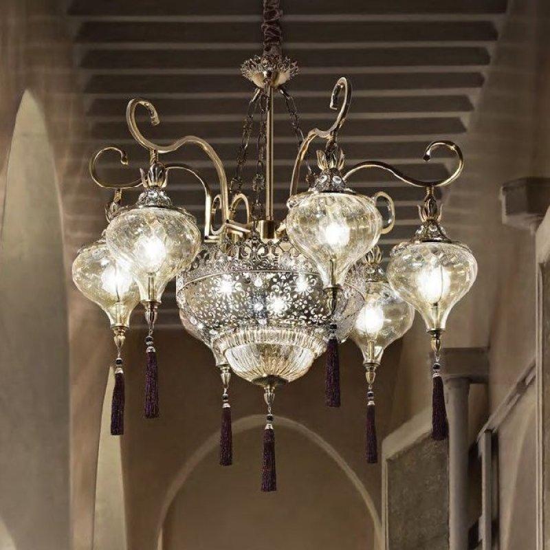 chandeliers HAREM SP9 Antique Brass