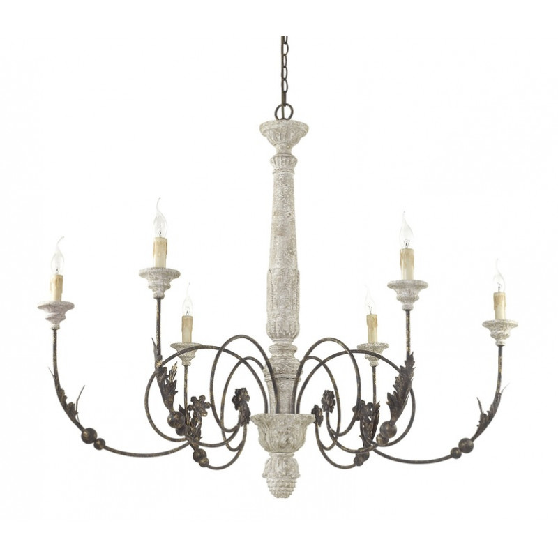 Chandelier VOLTERRA SP6 Antique Wood