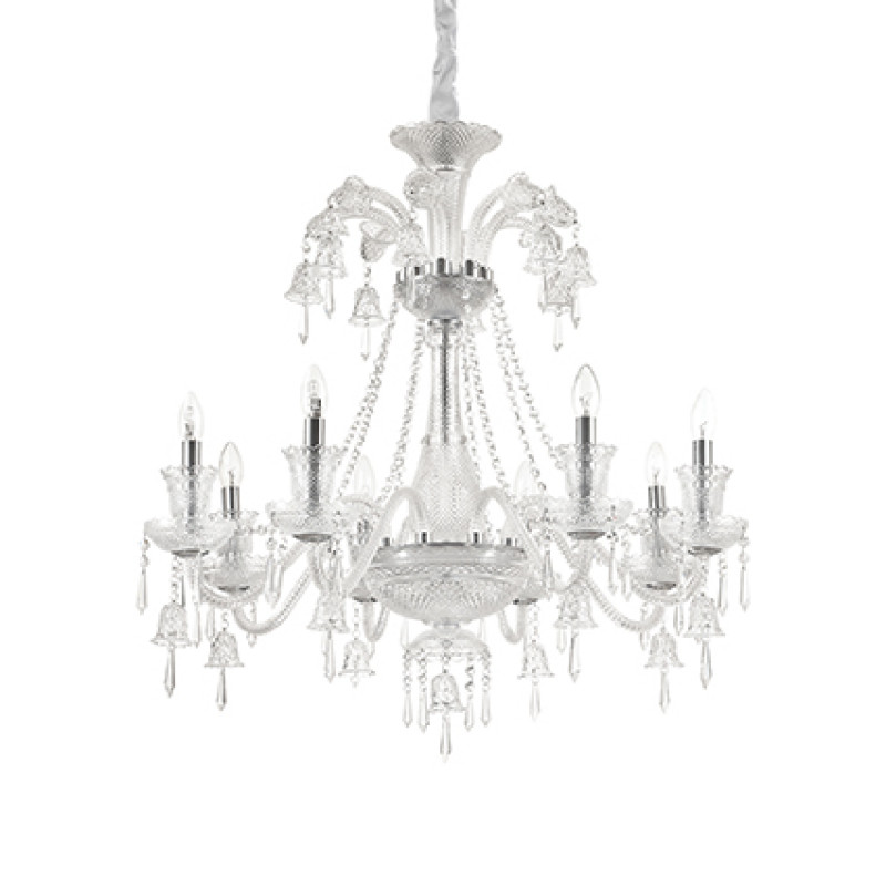 Chandelier REDENTORE SP8 Transparent