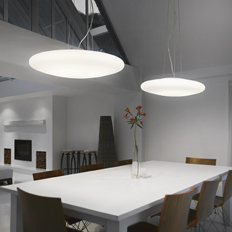 Pendant lamp SMARTIES BIANCO SP3 D40 White