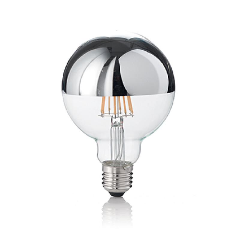 LED Bulb CLASSIC E27 8W GLOBO D95 CROMO 3000K, Ø ...