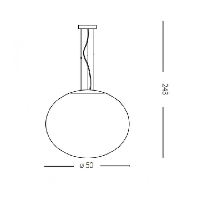 Pendant lamp CANDY SP1 Ø 50 cm