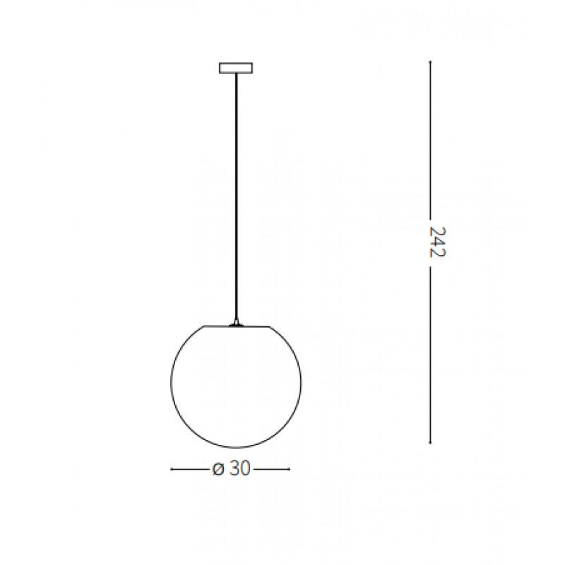 Pendant lamp CARTA SP1 Ø 30 cm