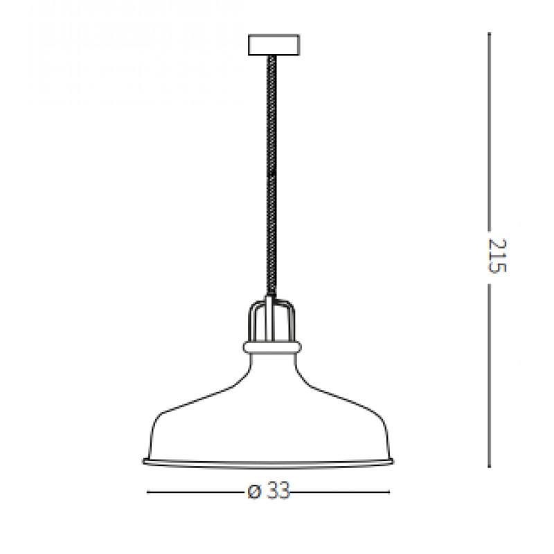 Pendant lamp ERIS-2 SP1 Ø 33 cm