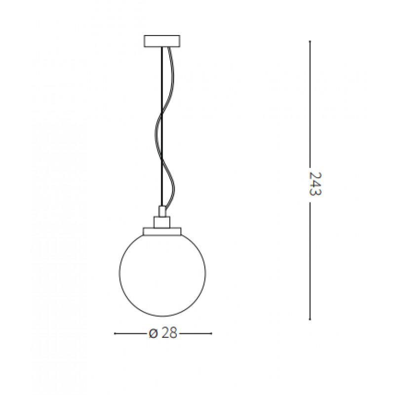 Pendant lamp GRAPE SP1 SMALL Ø 28 cm