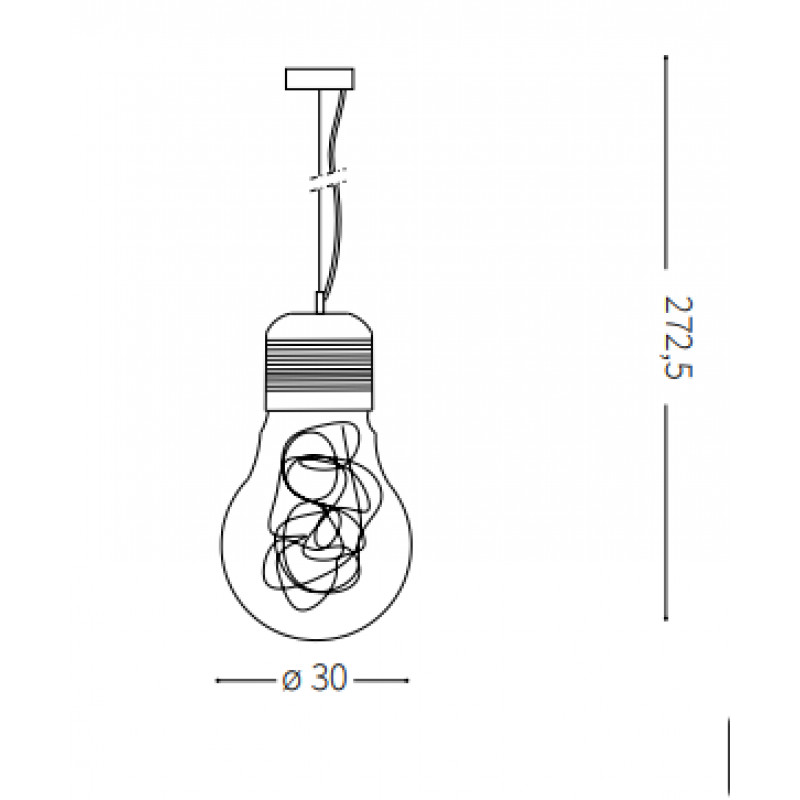 Pendant lamp LUCE MAX SP1 BIG Ø 30 cm