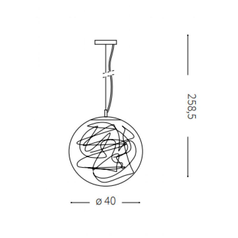 Pendant lamp MAPA MAX SP1 Ø 40 cm