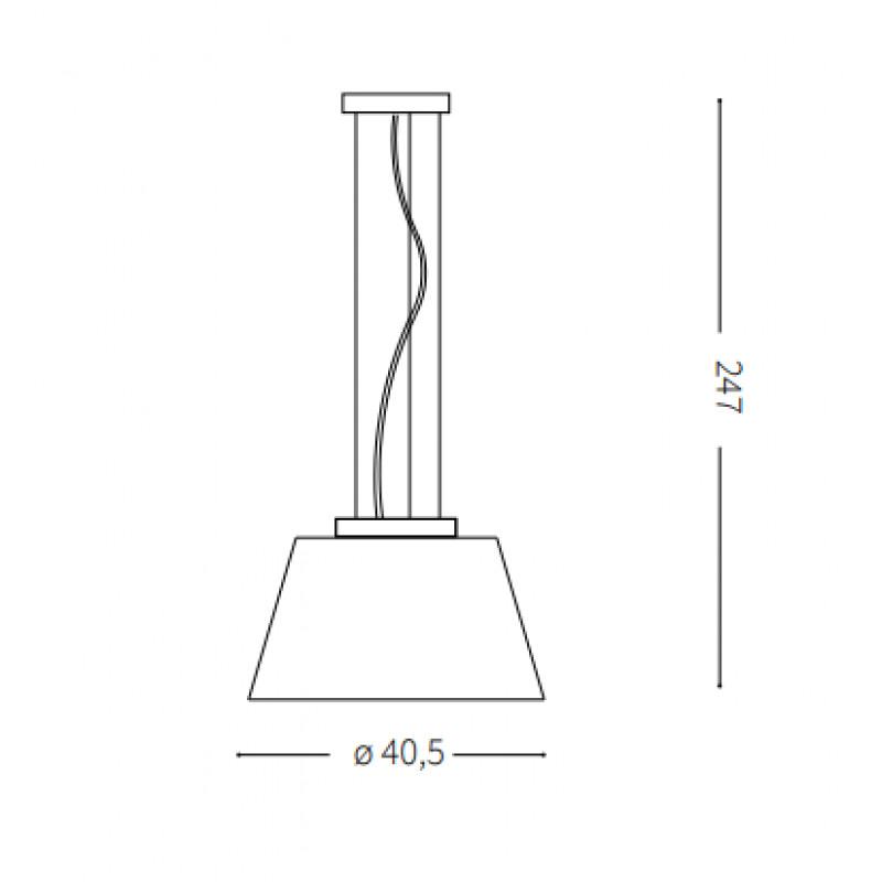Pendant lamp CYLINDER SP1 Ø 40 сm