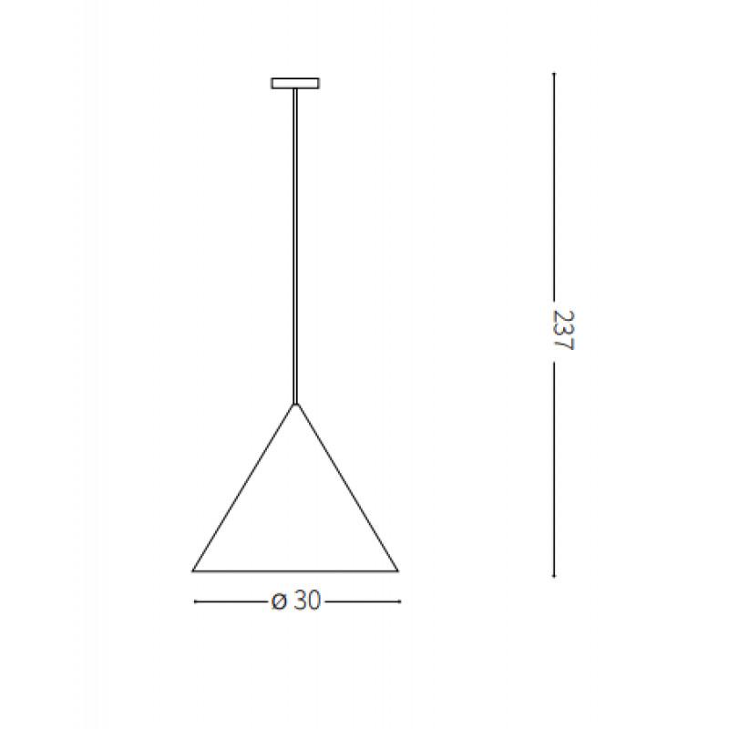 Pendant lamp A-LINE SP1 Ø 13 сm