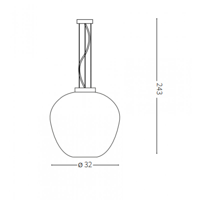 Pendant lamp BLOSSOM SP1 Ø 32 сm