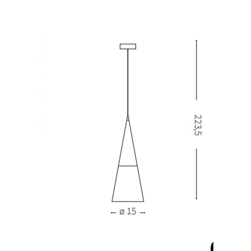 Pendant lamp CONO SP1 Ø 15 cm