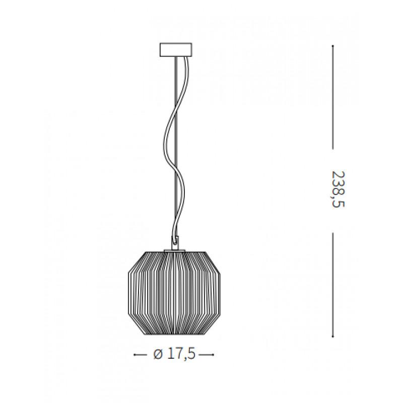 Pendant lamp ORIGAMI-1 SP1 Ø 17,5 сm