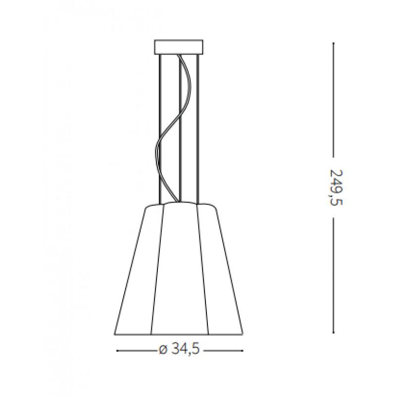 Pendant lamp SESTO SP1 Ø 35 сm