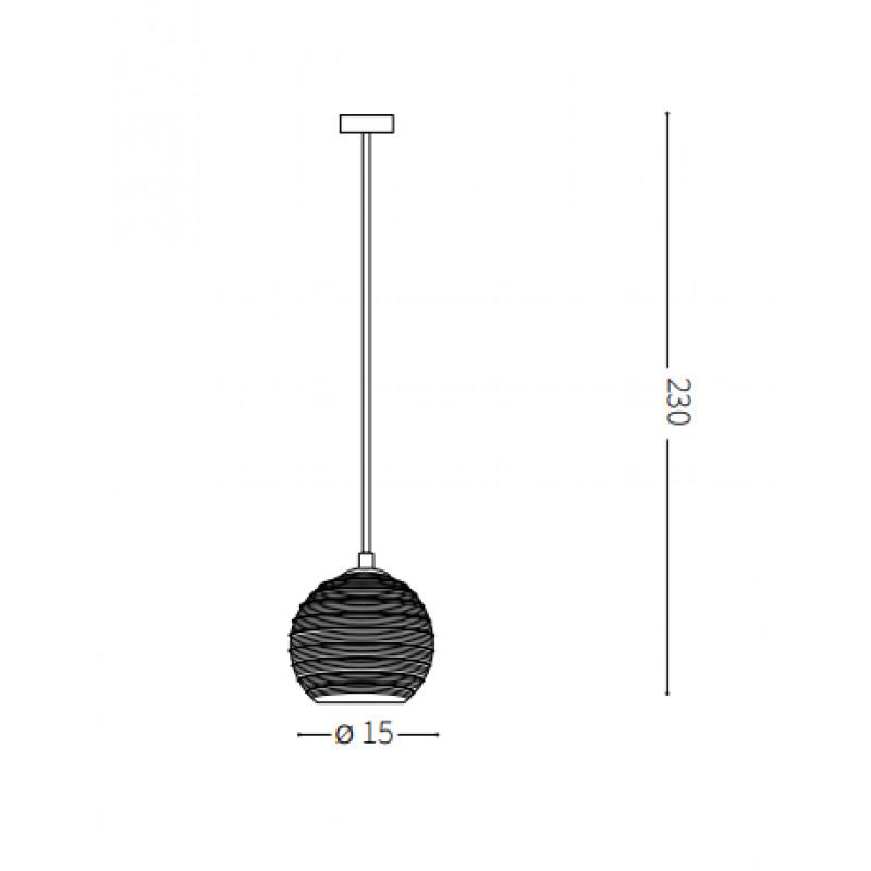 Pendant lamp RIGA SP1 SMALL Ø 15 cm