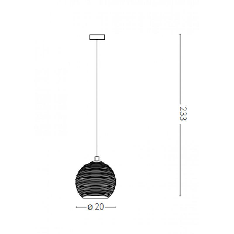 Pendant lamp RIGA SP1 BIG Ø 20 cm