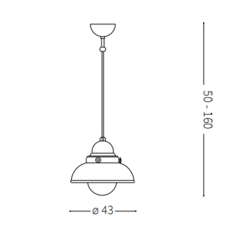 Pendant lamp SAILOR SP1 Ø 43 cm