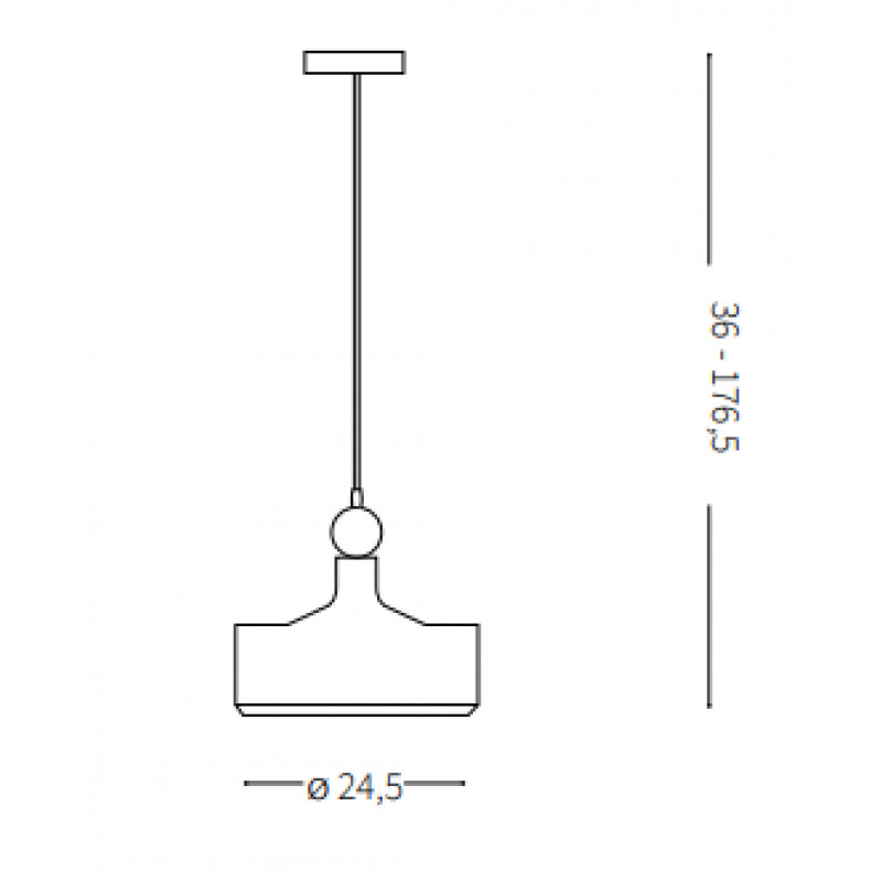 Pendant lamp TRIADE-2 SP1 Ø 24,5 cm