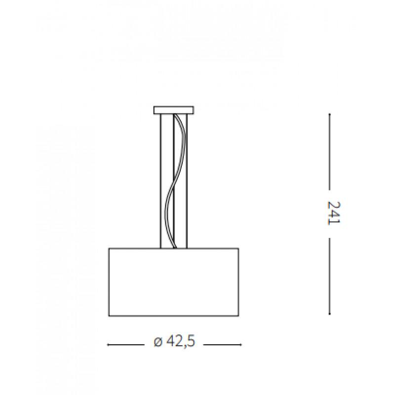 Pendant lamp WHEEL SP3 Ø 42,5 cm